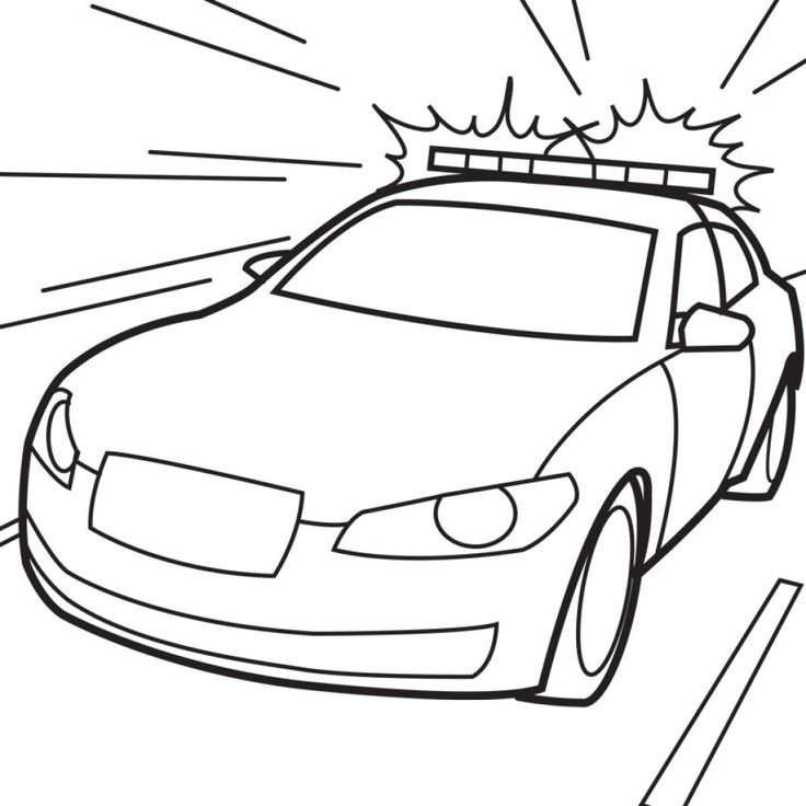 Free Cop Car Coloring Page To Print Out