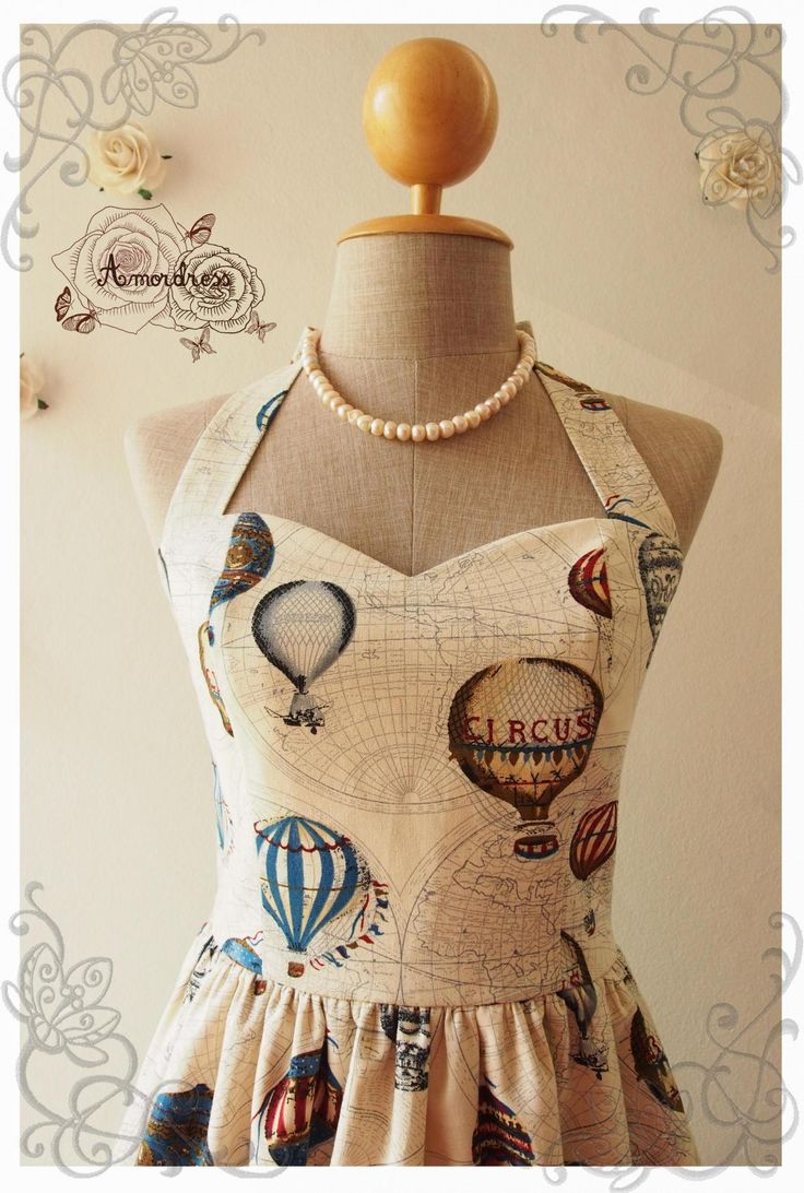 LOVE JOURNEY DRESS : Balloon world map dress