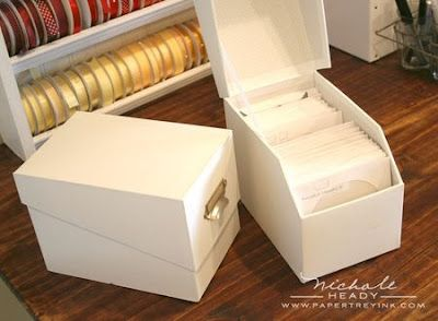 Creatively Candace: {Organization} Copics & Die Storage - CD storage box from Walmart