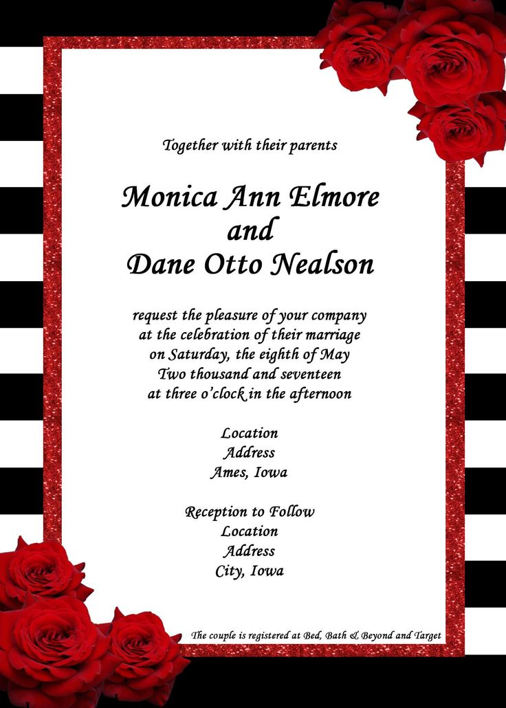 436 best Invitation background images on Pinterest ... Red And White Wedding Invitations Templates