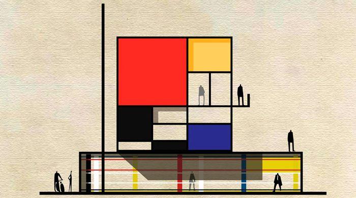 Archist City: известные художники в виде архитектурных проектов