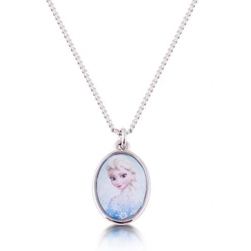 Disney Couture Frozen Elsa Cameo Necklace at Aquaruby.com