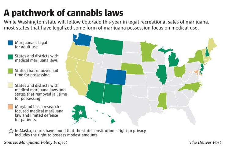 Map Statebystate Marijuana Laws In The US The Cannabist - Us weed laws map