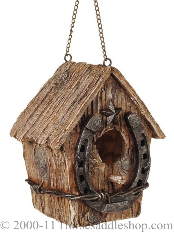 cute wooden birdhouses | Western Horseshoe Birdhouse 87-93535