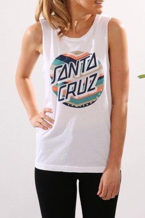 Santa Cruz - Chevron Dot Girls Muscle $44.95 Shop // http://www.jeanjail.com.au/santa-cruz-chevron-dot-girls-muscle-4.html