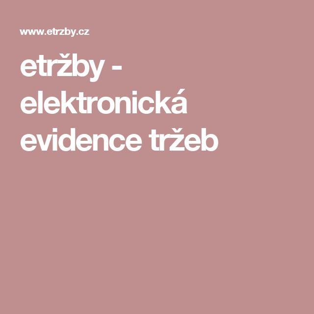 etržby - elektronická evidence tržeb