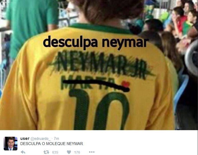 """Zoações de Brasil x Alemanha têm """"Desculpa, Neymar"""" e muito 7 x 1 #globoesporte"""