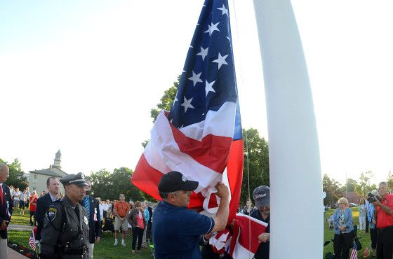 memorial day flag burning