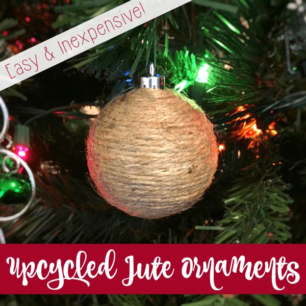 These homemade ornaments are simple and so inexpensive. Revamp your Christmas decor with beautiful, rustic homemade upcycled jute ornaments - a great way to reuse old ornaments.