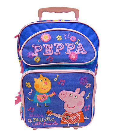 Love this Purple Peppa Pig 'Make Music' Rolling Backpack on #zulily! #zulilyfinds