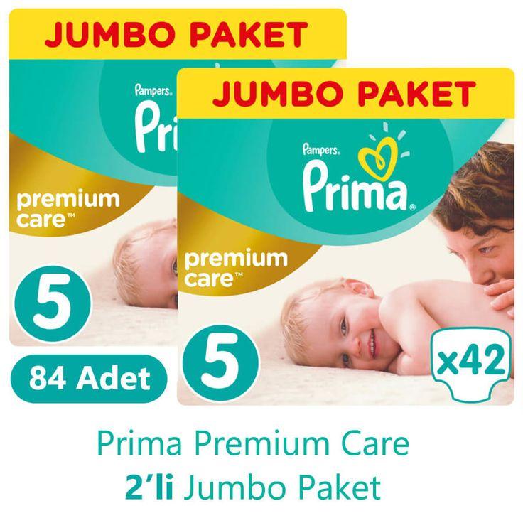 Prima Premium Care Bebek Bezi 5 Beden Jumbo İkili Paket (42 Adet x 2 Adet)