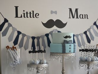 Mustache Boy Babyshower   Simply Elegant Event Could Do Bow Ties Instead