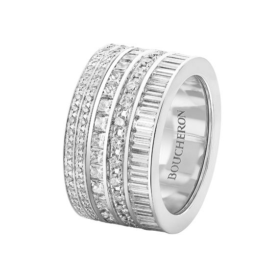 La bague Quatre Joaillerie de Boucheron en version soir http://www.vogue.fr/joaillerie/shopping/diaporama/bijoux-day-night-version-jour-et-soir/17398/image/929847#!la-bague-quatre-de-boucheron-en-diamants