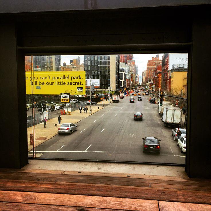 Nyc window! #TheHighline #urbanDesign