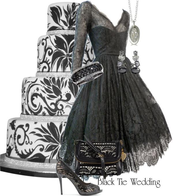 Cocktail dresses for black tie wedding