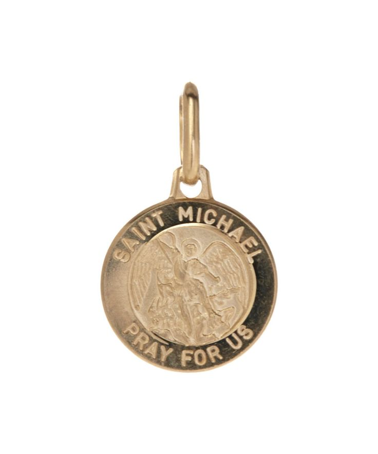 Take a look at this Celebrate with Gold® 14k Gold St. Michael Round Pendant today!