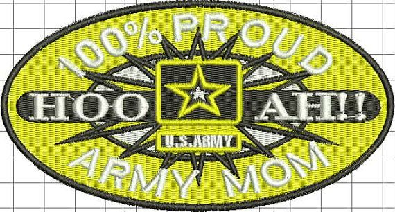 Military Mom  Logo Proud Mom machine embroidery by BiaForceDesigns, $5.50