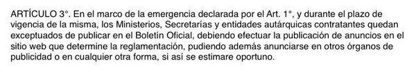 Mientras nos distraen con el divorcio,Vidal se autoexceptúa de publicar licitaciones en el Boletín Oficial