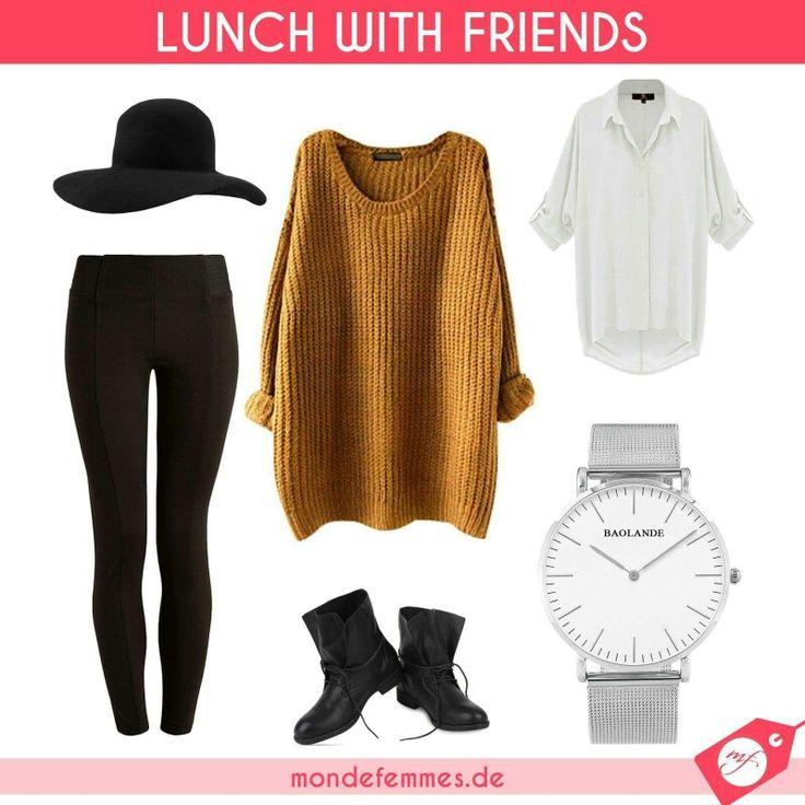 💎 Outfit der Woche - Lunch with Friends 💎 Das Outfit Lunch with Friends ist aktuell einer der beliebtesten Mode Trends und eignet sich Ideal zum treffen mit Freunden oder zum Spontanen Stadtbummel. Die Kombination zwischen Pullover und Bluse sind schön aufeinander abgestimmt.