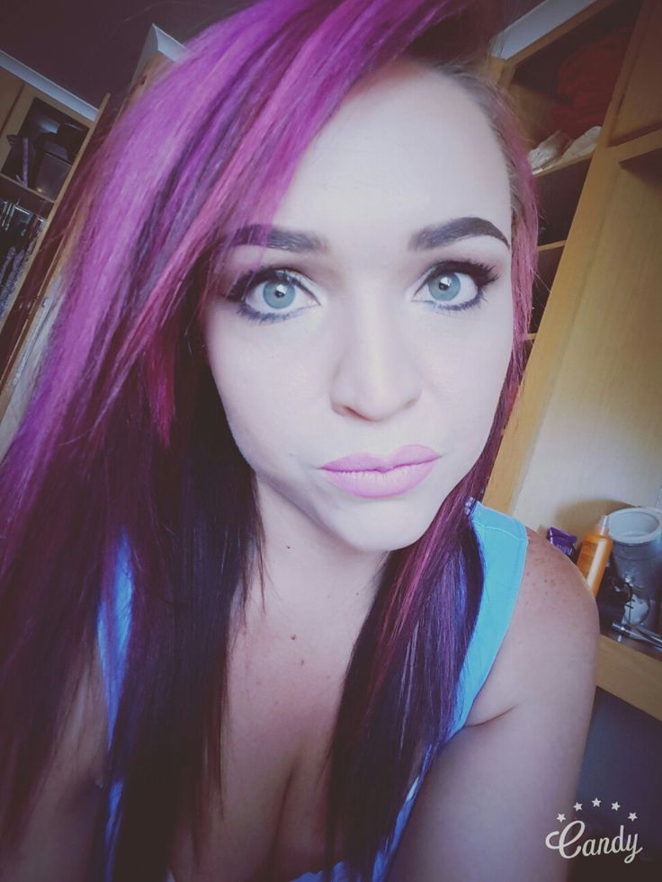 Pink hair and purple highlights