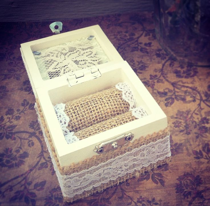 Wedding Ring Box, Ring Bearer Box, Rustic Ring Bearer Box, Engagement Ring Box, Wedding Rind Holder, Rustic Wedding Box,  Barear Pillow by AsyaHandmadeArt on Etsy
