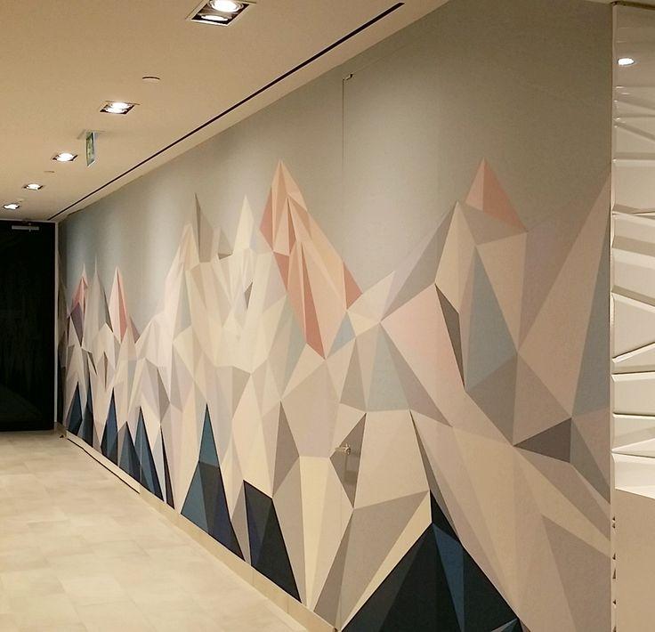 Custom printed acoustic wall installation