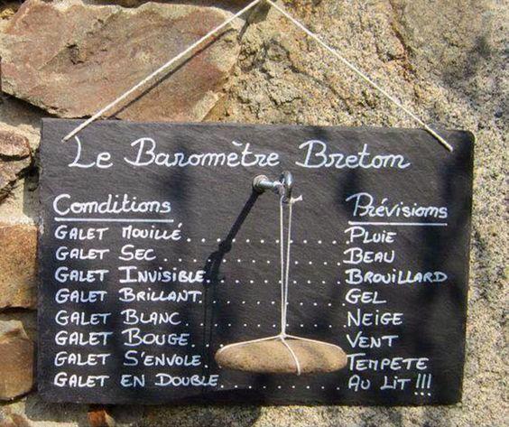 Baromètre Breton #humour #rire #blague #drôle #imagedrole #Bretagne #météo