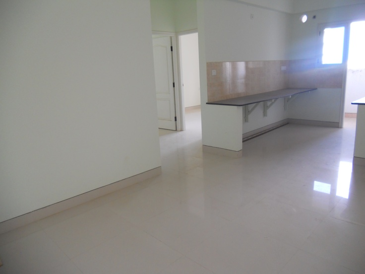 BREN Celestia G +5 suite of 2 / 3 BHK Flats on Sarjapur Road, Model Flat - Dinning Hall with Kitchen view