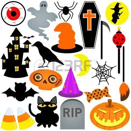 Colorful Festival a tema Halloween, Icone  Elementi di design photo