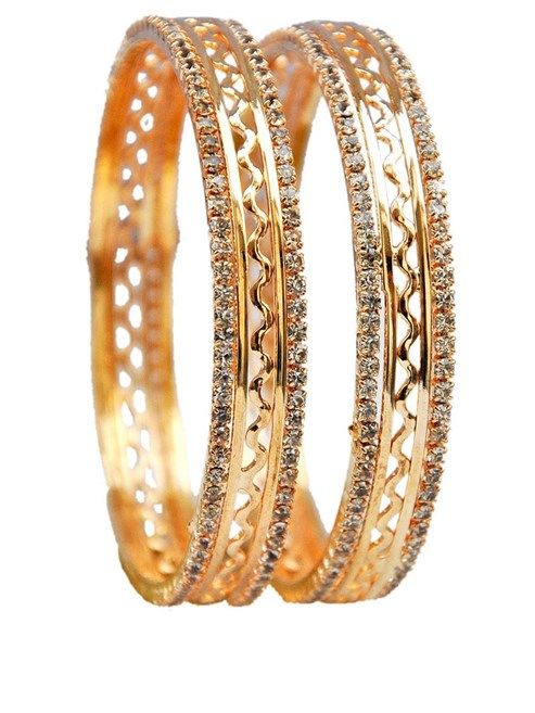 Maayra Posh Gold Party College Bangles