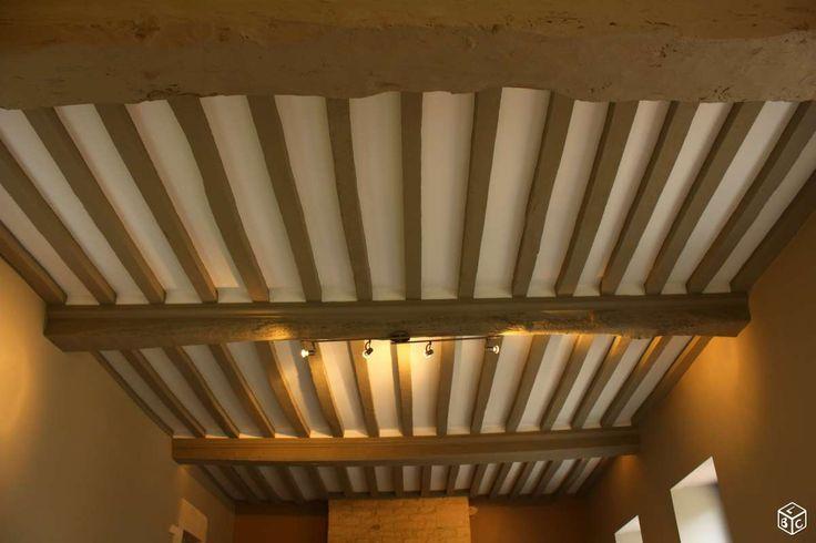 1000 id es sur le th me poutres peintes sur pinterest plafonds de sous sol poutres et poutres for Poutres peintes