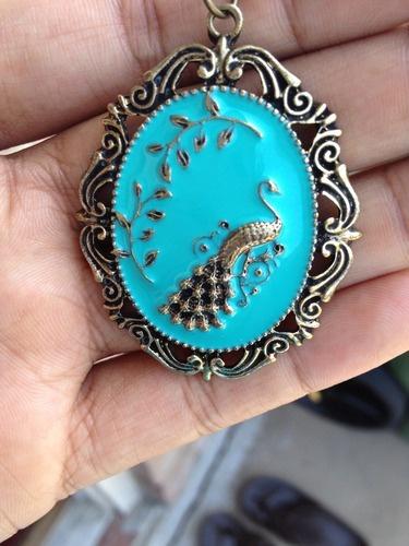 Peacock pendant.: Peacock Pendants
