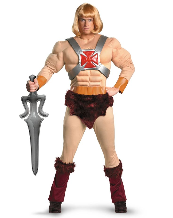 masters of the universe he man muscle adult mens costume spirit halloween hollowen costume pinterest spirit halloween halloween costumes and - Classic Mens Halloween Costumes