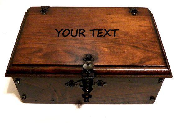 Box for Him Engravable Man Gift Box por Personalizedbox en Etsy