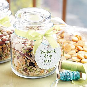 Patchwork Soup Mix Recipe. Add a bag of Herbed Oyster Crackers to go along with this hearty soup mix. The pair offers just the right combination for chasing the chill away. A welcome gift!