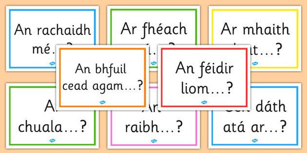 Gaeilge Question Starters Display Posters