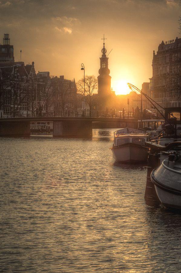 Photo Amsterdam sunset by Alexandru Mahu on 500px