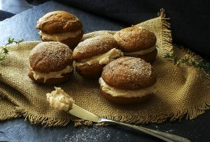 Soft and lightly spiced pumpkin cookies sandwiched together with a decadent, yet easy to make, browned butter maple cinnamon frosting!