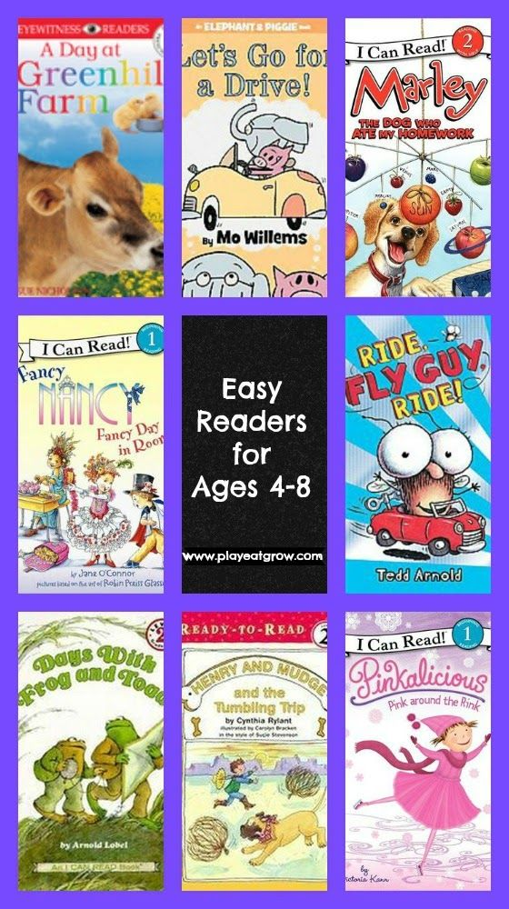 Readers that are Easy to Love - Free list from Play Eat Grow. (Includes classic favorites and a few great books that were new to me.