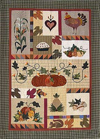 ~ Dressed For Dinner Quilt ~ w/ Pumpkins....by Pearl P Perieira Designs....