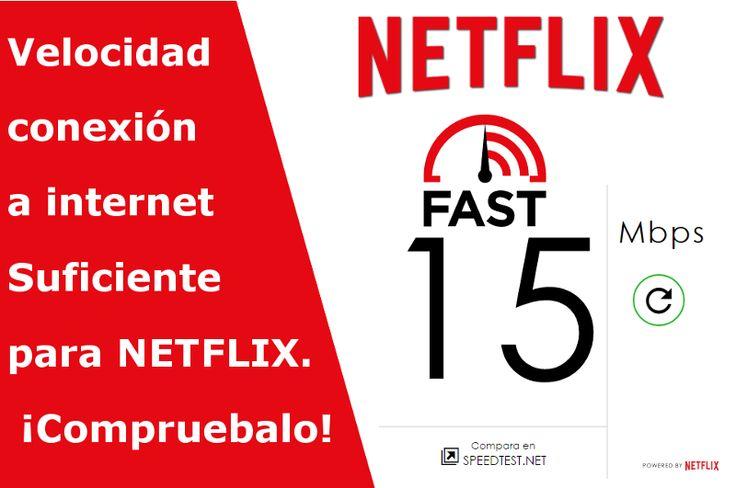 Comprueba la velocidad de tu conexión a Internet y comprueba si es compatible con la reproducción de contenidos de la plataforma Netflix. Todo esto es gracias a la herramienta Web fast.com #Netflix #Fastcom #Internet #testvelocidad #multimedia #videos #series #Mps