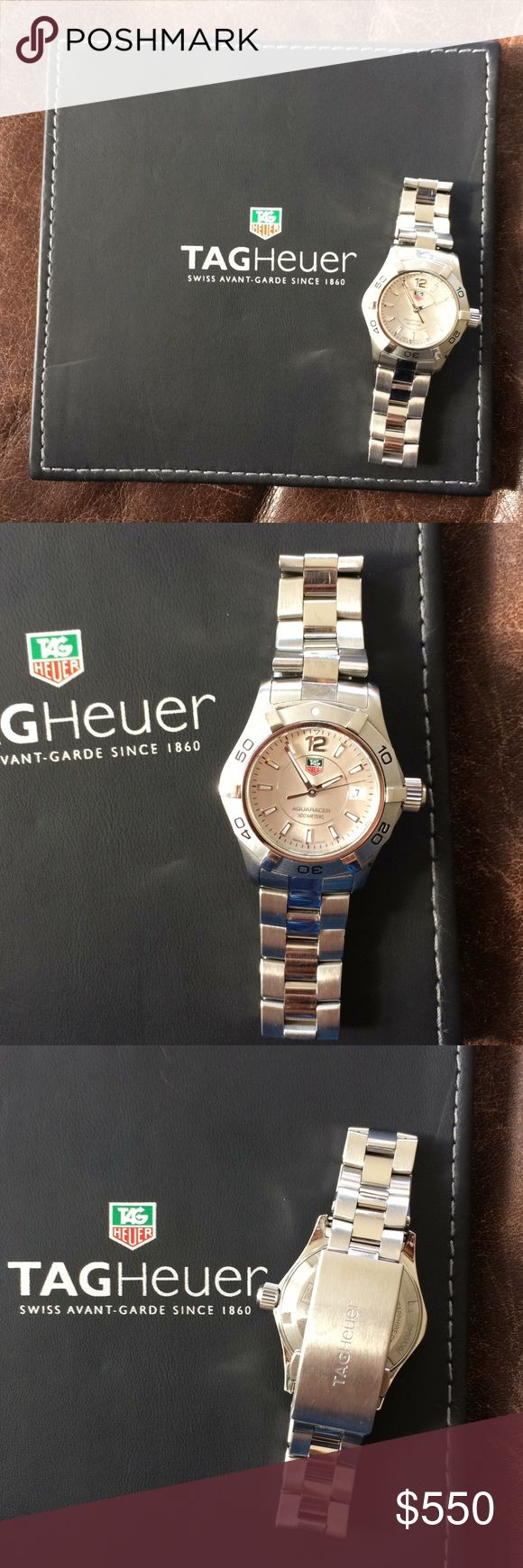 "Tag Heuer Aquaracer watch Authentic Tag Heuer aquaracer 300m watch for sale. Pearl face. In good, used condition. Just replaced the battery 1/4/18. Fits up to 6"" wrist. Only worn on special occasions. Comes with booklet, but no longer have box, extra links, or receipt. Tag Heuer Accessories"