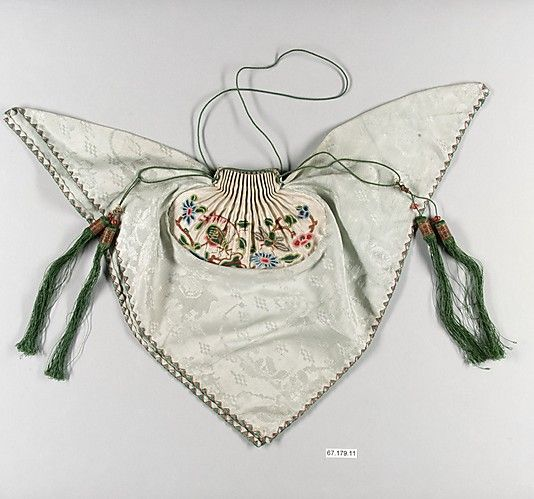 Purse  Period: Qing dynasty (1644–1911) Date: 19th century Culture: China Medium: Silk