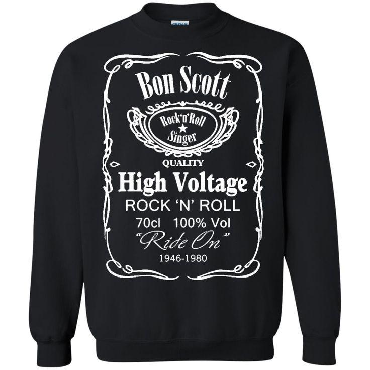 Bon Scott T shirts Rock n Roll Singer Quality High Voltage Ride On 1946-1980