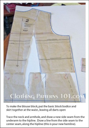 how to make a skirt block pattern