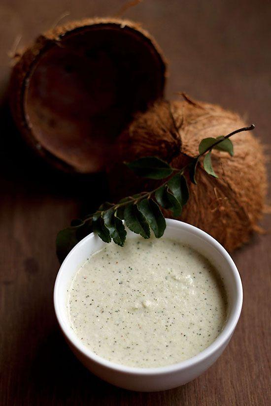 coconut chutney recipe. quick hotel style coconut chutney that goes extremely well with idli, dosa, uttapam & medu vada. #chutney #coconutchutney