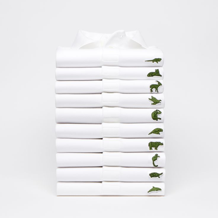 In a collaboration with the International Union for Conservation of Nature, Lacoste has swapped its famous crocodile logo for ten of the world's most threatened animals on a set of limited edition polo shirts.
