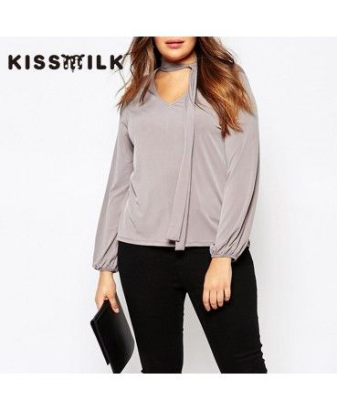 Grey halter neck shirt A0815
