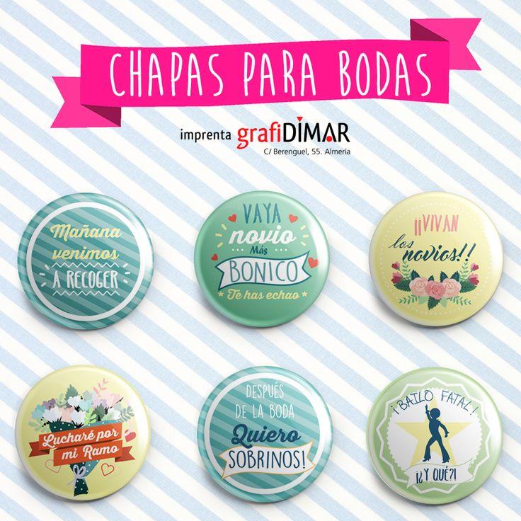 chapas diseños divertidos bodas #bodas #chapas #ideas #original