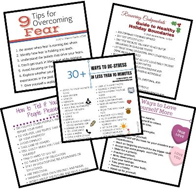 Each bundle of self-improvement printables contains 5 unique PDFs. They are all designed to be printed on 8.5 X 11 inch paper and have a white background and colored text and graphics. They are perfect for pinning on your refrigerator to keep you inspired, giving to a friend who is struggling, or as a quick … … Continue reading →